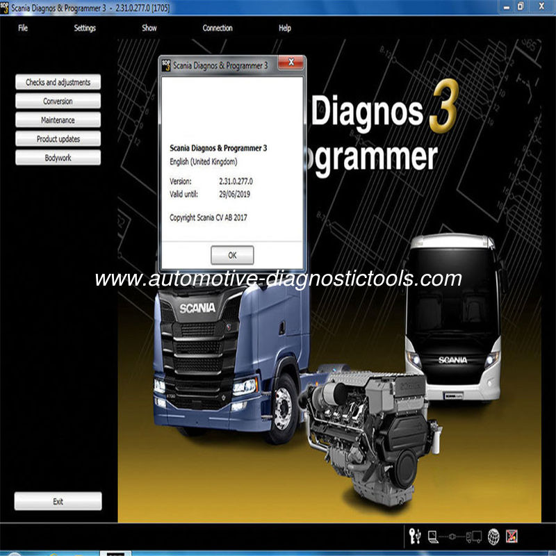2017 Newest Scania VCI & VCI2 SDP3 V2.31 Software Automotive Diagnostic Software for Trucks/Buses